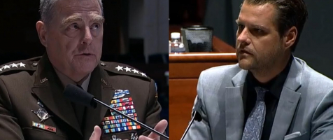 Gaetz Questions Chairman of the Joint Chiefs of Staff Mark Milley on Russia Bounty Intel