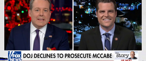 "Gaetz on McCabe: ""There's Still a 'Little Swamp Left to be Drained' at DOJ"