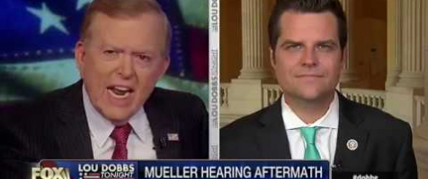 Gaetz Discusses The Mueller Hearing Aftermath on Lou Dobbs