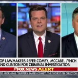 Rep. Gaetz Joins Sean Hannity to Discuss Possible Criminal Investigations of Comey, Clinton, Lynch