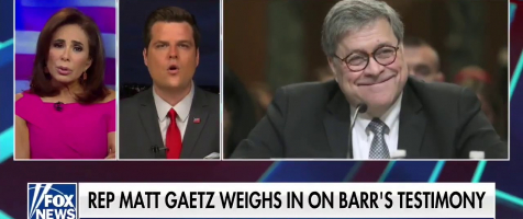 Gaetz Discusses AG Barr on Justice with Judge Jeanine