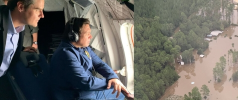 DeSantis Gives Press Conference Following Pensacola Damage Assessment Flight with Rep. Gaetz