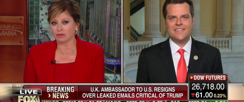 """Gaetz On Mornings with Maria: """"My Dem Colleagues Can't Take a Hint"""""""